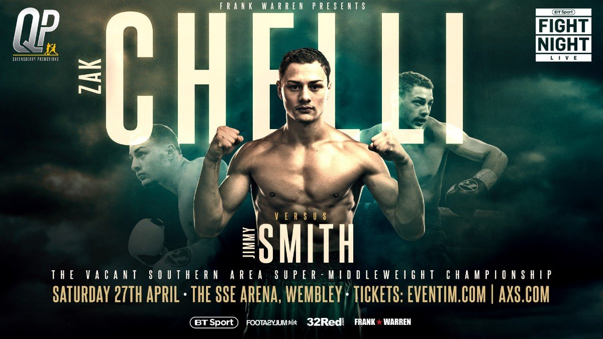 - UNBEATEN super-middleweight Zak Chelli is spending time in the gym and class room preparing for his next big boxing examination.