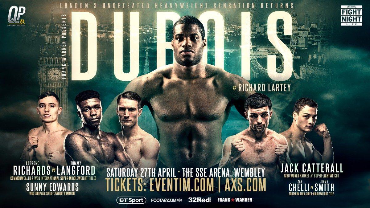 Daniel Dubois Frank Warren Richard Lartey British Boxing Press Room