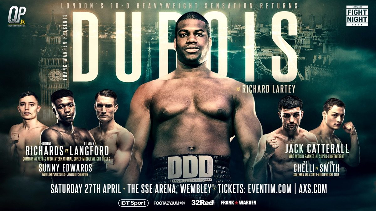 Daniel Dubois Richard Lartey British Boxing Press Room