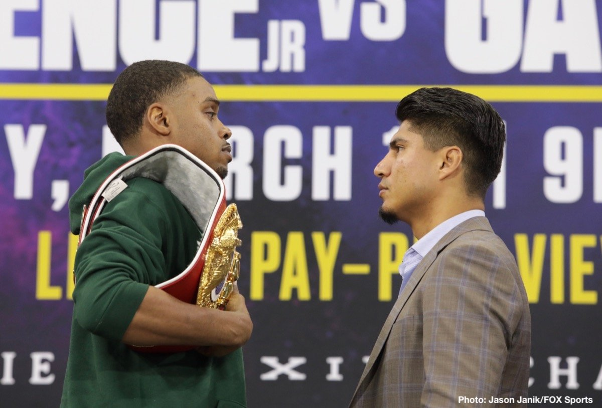 Mikey Garcia - Unbeaten IBF Welterweight World Champion Errol Spence Jr. and undefeated four-division champion Mikey Garcia went face-to-face at AT&T Stadium in Arlington, Texas Wednesday at the final press conference before they go toe-to-toe at the same venue this Saturday in a Premier Boxing Champions on FOX Sports Pay-Per-View event.