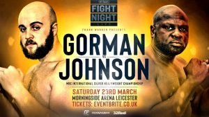 """Nathan Gorman - Last night in Leicester, UK, unbeaten heavyweight hope Nathan Gorman got the job done against the ever reliable and durable Kevin Johnson. 22 year old Gorman pounded out a shut-out win over ten rounds, emerging victorious with a score of 100-90, which was handed in by the referee. Now 16-0(11), Gorman said after the fight how he had """"got the job done against a very difficult man, now it's onwards and upwards."""""""
