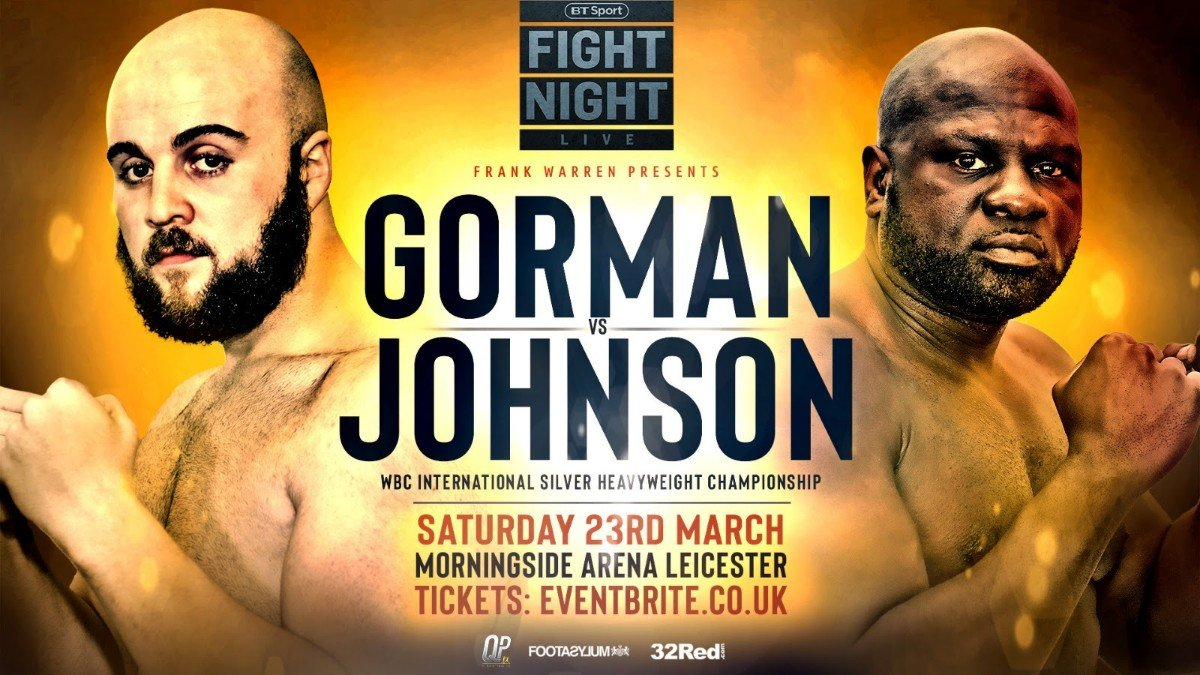 NATHAN GORMAN WILL now take on the venerable American Kevin 'Kingpin' Johnson at the Morningside Arena in Leicester on Saturday, live on BT Sport.