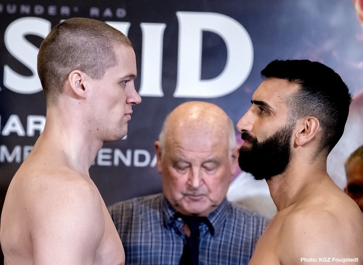 Kai Robin Havnaa - Kai Robin Havnaa (13-0, 11 KOs) and Rad Rashid (16-4, 13 KOs) both made weight today ahead of their IBO International Cruiserweight title fight tomorrow night at the SØR Amfi in Arendal, Norway. All the action will be shown live on Viasat 4 in Norway and live on SPORT1 in Germany.