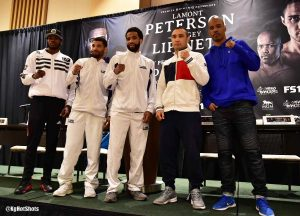 Argenis Mendez - Former two-division world champion Lamont Peterson and former 140-pound champion Sergey Lipinets went face-to-face Friday at the final press conference before they meet in the main event of Premier Boxing Champions on FS1 and FOX Deportes this Sunday from MGM National Harbor in Maryland.
