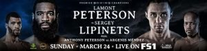 Lamont Peterson -  The match between former middleweight champion Sakio Bika and Lionell Thompson has been removed from the Premier Boxing Champions on FS1 card on Sunday at MGM Grand National Harbor in Maryland.