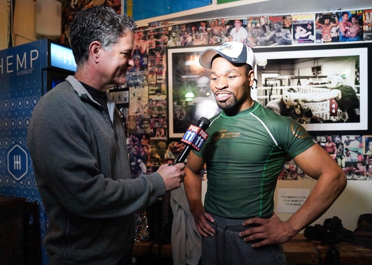 Shawn Porter, Yordenis Ugas -  WBC Welterweight World Champion Shawn Porter and top contender Yordenis Ugas held a media workout Wednesday at Churchill Boxing Club in Santa Monica as they near their title showdown that headlines Premier Boxing Champions on FOX and FOX Deportes Saturday night from Dignity Health Sports Park in Carson, California.