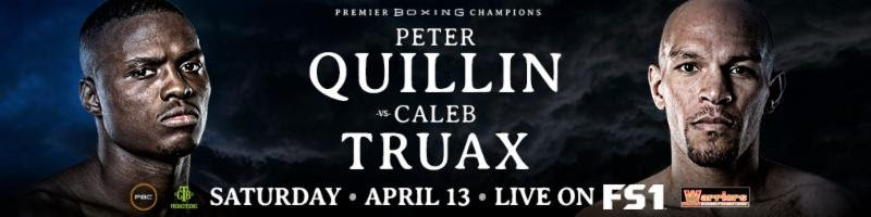Caleb Truax, Chris Colbert, Peter Quillin - Unbeaten rising prospect Chris Colbert will take on Mexico's Mario Briones in a 10-round lightweight showdown that headlines Premier Boxing Champions Prelims on FS2 and FOX Deportes Saturday, April 13 from The Armory in Minneapolis.