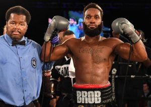 """Brandon Robinson - Of the 114 total bouts that took place in the City of Philadelphia in 2018, the final main event of the year proved to be the best. The dramatic and grueling battle between Upper Darby super middleweight Brandon Robinson and out-of-towner Kalvin Henderson of Arkansas, was voted by fans as the """"2018 Philly Fight of the Year"""". Both Henderson and Robinson will be in attendance at the Briscoe Awards on Sunday, April 14, 2019, at Xfinity Live! in South Philly, to receive their awards."""