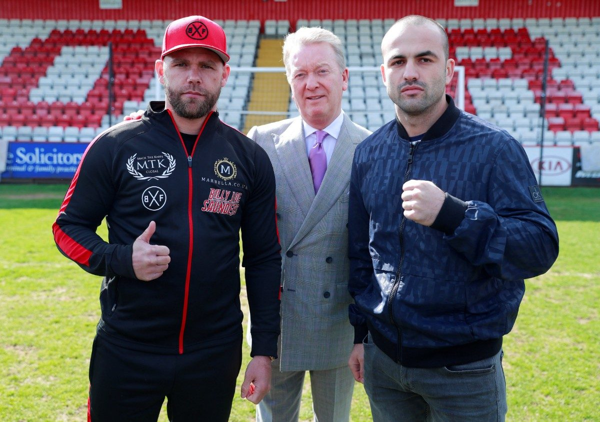 Billy Joe Saunders Shefat Isufi Press Room
