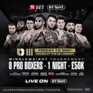 - ULTIMATE BOXXER, Britain's first boxing entertainment brand, is delighted to announce that it has signed a broadcast deal with BT Sport, starting with its first event of the year on Friday 10th May at The Indigo at The O2.