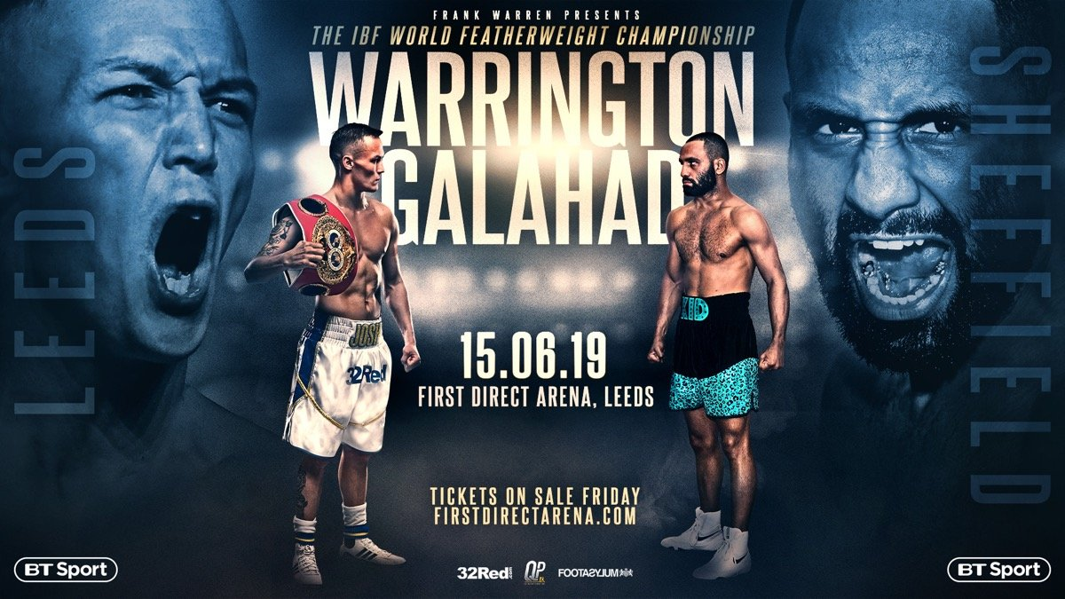 Kid Galahad - The featherweights are in action tomorrow night in Leeds, UK, as IBF 126 pound ruler Josh Warrington defends against bitter rival Kid Galahad. The two unbeaten fighters have had a whole lot to say to each other in the run-up to the fight and the bad blood does seem genuine. Both men have vowed to lay it all on the line so as to walk away with the win.