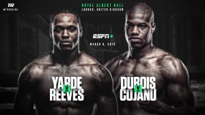 Razvan Cojanu - Yarde-Travis Reeves headlines afternoon of boxing on ESPN+ beginning at 2:30 p.m. ET/11:30 a.m. PT -  Dubois to fight Razvan Cojanu in co-feature bout