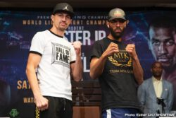 Rances Barthelemy, Robert Easter Jr. -  Former lightweight champion Robert Easter Jr. and former two-division champion Rances Barthelemy went face-to-face Thursday at the final press conference before they meet for the vacant WBA Lightweight title this Saturday live on SHOWTIME (10 p.m. PT /7 p.m. ET) from The Chelsea inside of The Cosmopolitan of Las Vegas and presented by Premier Boxing Champions.