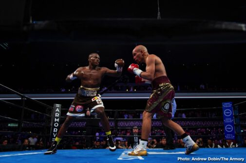 "Caleb Truax, Jack Culcay, Peter Quillin, Sergiy Derevyanchenko - Former world champions Peter ""Kid Chocolate"" Quillin and Caleb ""Golden"" Truax fought to a no-decision in an IBF super middleweight title eliminator that headlined Premier Boxing Champions on FS1 and FOX Deportes Saturday night from The Armory in Minneapolis."