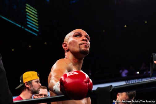 Caleb Truax, Jack Culcay, Peter Quillin, Sergiy Derevyanchenko - Caleb Truax's ring walk song was a fitting 'Purple Rain' in a state where Prince made his bones, as it turned out that would be the most exciting part of the main event. After a range finding round one, Truax was cut above the right eye from an accidental head butt. Apparently the cut was bleeding badly enough for the referee and doctor to stop this bout before the third round ending in a no-contest to the hometowns crowd dismay. Peter Quillin seemed willingly to come back to the Armory in Minneapolis for a possible rematch.