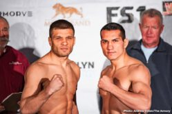 Caleb Truax, Peter Quillin - This Saturday night from snowy Minneapolis, Peter Quillin and Caleb Truax meet in a crossroads bout for an IBF super middleweight title eliminator. The co-feature pits Sergey Derevyanchenko against Jack Culcay for an IBF middleweight title eliminator. Also, hot-prospect Joey Spencer will be featured in the opener of the FS1 broadcast. Eerily similar to last April's PBC on FS1 card, a snowstorm has hit the Twin Cities in Minnesota which could hurt the walkup traffic. The event handlers behind the scenes were expecting a full sellout at the Armory configured to around 5,500. Either way a robust crowd will be on hand to support Minnesota native Caleb Truax in his quest to make another run at a world title.