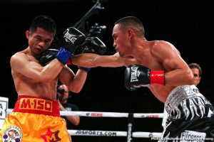 "Juan Francisco Estrada -  It was a thrilling night of action at The Forum in Inglewood, California, and around the world on DAZN. Pound-for-pound star Srisaket Sor Rungvisai and Juan Francisco Estrada met at the site of their first fight, which was a leading contender for ""Fight of the Year"" in 2018, and continued their tremendous ring rivalry with an action-filled fight. Estrada (39-3, 26KOs) exacted revenge in the rematch and claimed the WBC and Ring Magazine Super Flyweight World titles from Rungvisai (47-5-1, 41KOs) via unanimous decision in the main event of the evening."
