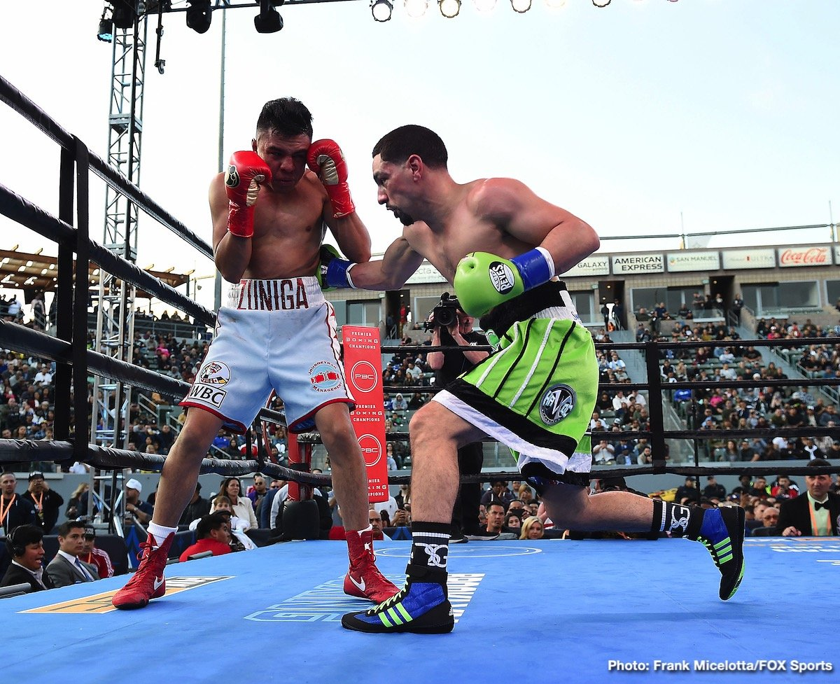 "Alexander Dimitrenko - Former two-division champion Danny ""Swift"" Garcia (35-2, 21 KOs) dropped Adrian Granados (20-7-2, 14 KOs) three times before stopping him in round seven Saturday night in a welterweight showdown that headlined Boxing Champions on FOX and FOX Deportes from Dignity Health Sports Park in Carson, California."