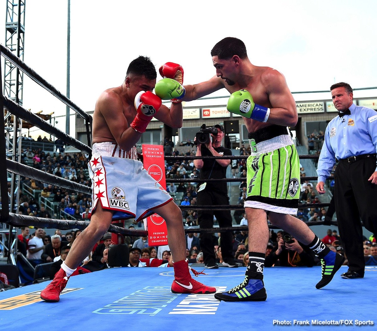 Adrian Granados, Danny Garcia - In a spectacular performance former two division belt holder Danny Garcia (35-2, 21 KOs) bludgeoned the game but limited Adrian Granados (20-7-2, 14 KOs) in scoring a seventh round TKO victory on Saturday night in a fight that was shown on PBC on Fox at the Dignity Health Sports Park in Carson, California.