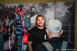 Adrian Granados, Andy Ruiz Jr, Danny Garcia - All-action welterweight Adrian Granados and heavyweight contender Andy Ruiz Jr. continued preparation for their respective showdowns at a media workout in Los Angeles Thursday before they step in the ring Saturday, April 20 as part of Premier Boxing Champions on FOX and FOX Deportes from Dignity Health Sports Park in Carson, California.