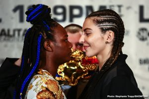Christina Hammer - Undefeated middleweight champions Claressa Shields and Christina Hammer went face-to-face in New York on Wednesday just three days before arguably the most significant event in women's boxing history this Saturday live on SHOWTIME from Boardwalk Hall in Atlantic City, N.J.