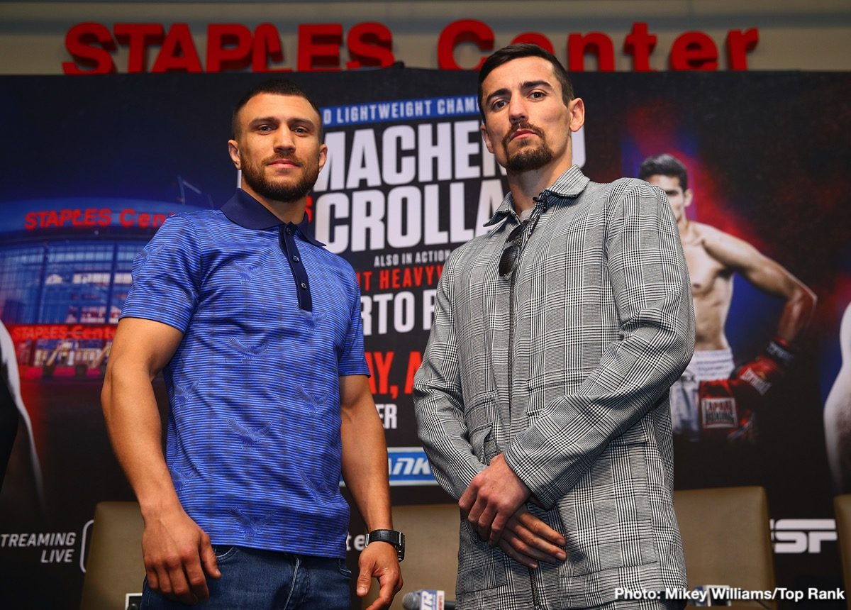 Anthony Crolla Matchroom Boxing Top Rank Vasily Lomachenko Boxing News