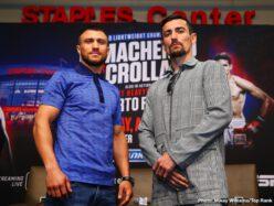Anthony Crolla, Vasiliy Lomachenko -  WBO/WBA lightweight champion Vasiliy Lomachenko came to Los Angeles to defend his titles. Anthony Crolla hopes to shock the world.