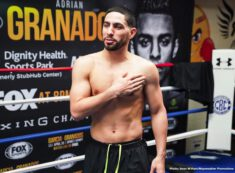 "Adrian Granados, Danny Garcia - Former two-division champion Danny ""Swift"" Garcia and welterweight contender Adrian Granados took part in a media workout Wednesday as they near their main event showdown that headlines Premier Boxing Champions on FOX and FOX Deportes this Saturday night from Dignity Health Sports Park in Carson, California."