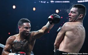"""Kiryl Relikh - The Fighting Pride of New Orleans, Regis """"Rougarou"""" Prograis (24-0, 20 KOs), promoted by DiBella Entertainment, defended his WBC Diamond Championship and captured the WBA Super Lightweight Championship on Saturday night with a sixth-round stoppage of Kiryl Relikh (23-3, 19 KOs), of Minsk, Belarus, in front of a passionate home-state crowd at the Cajundome in Lafayette, LA. The victory moved the new champion into the finals of the World Boxing Super Series to face the winner of the other semi-final bout between IBF Super Lightweight World Champion Ivan Baranchyk and undefeated, world-ranked contender Josh Taylor set for Saturday, May 18, in Glasgow, Scotland."""