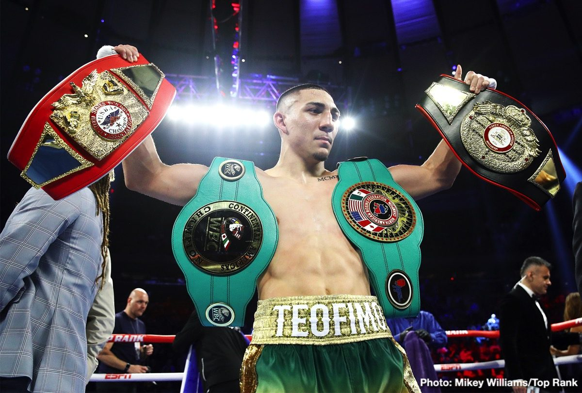 Teofimo Lopez Boxing Results Press Room