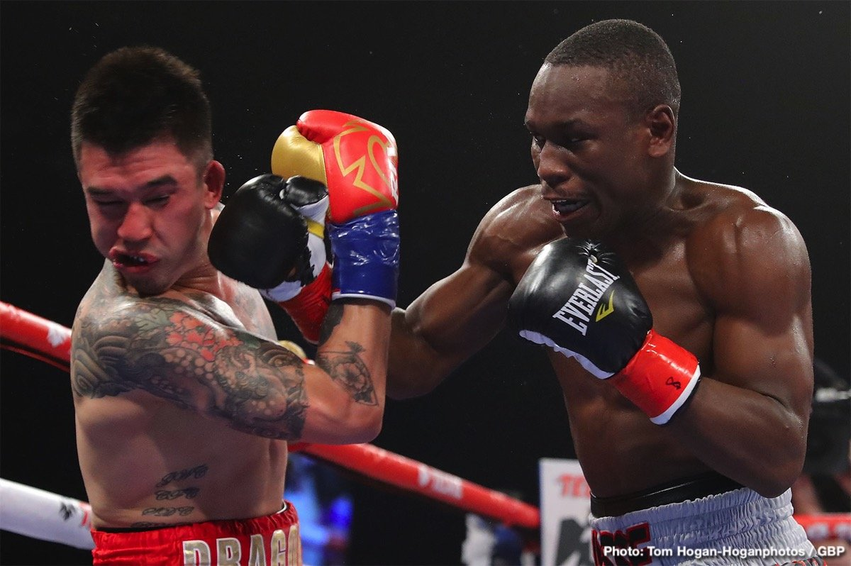 Oscar Negrete - Rising 140-pound contender Yves Ulysse Jr. (18-1, 9 KOs) of Montreal, Canada captured the vacant WBA Gold Super Lightweight Title by defeating Steve Claggett (27-6-2, 17 KOs) of Calgary, Canada via unanimous decision in the high-paced, 10-round main-event of the April 25 edition of Golden Boy DAZN Thursday Night Fights at Fantasy Springs Resort Casino. Ulysse won with scores of 96-94, 97-93, and 97-93.