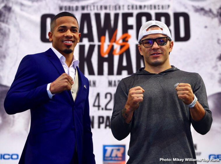 """Amir Khan, Terence Crawford - The time for talking is over. Terence """"Bud"""" Crawford is ready for business."""