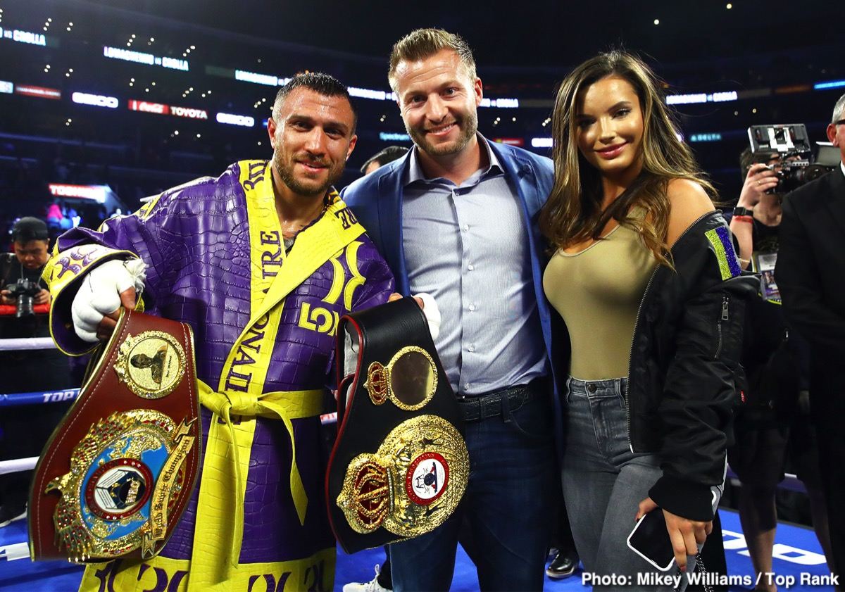 "Vasily Lomachenko - Lightweight champ and current pound-for-pound king (in the opinion of most) Vasyl Lomachenko could be headed to the UK for his next fight. In fact, ""Loma"" will be boxing in either London or Hull if promoter Eddie Hearn gets what he wants. As fans may have read, Lomachenko has been ordered by the WBC to fight Britain's Luke Campbell for their vacant 135 pound belt – and Hearn is excited about the fight and he is already at work trying to secure a venue."