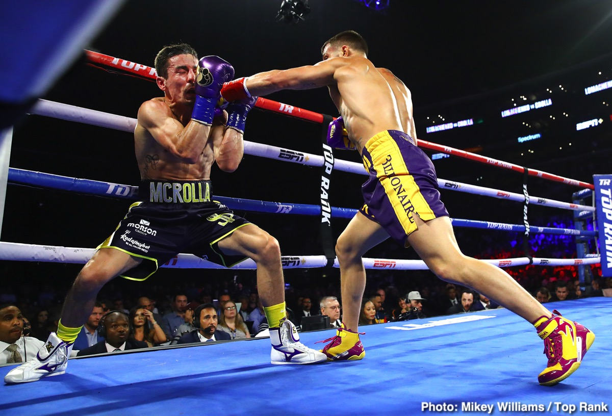 Vasily Lomachenko -  Vasiliy Lomachenko once again staked his claim as the pound-for-pound king, knocking out mandatory challenger Anthony Crolla in four rounds to retain his WBA/WBO/Ring Magazine lightweight titles.