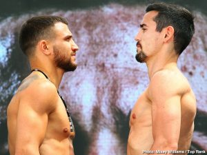 Anthony Crolla -  WBO/WBA lightweight champion Vasiliy Lomachenko came to Los Angeles to defend his titles. Anthony Crolla hopes to shock the world.