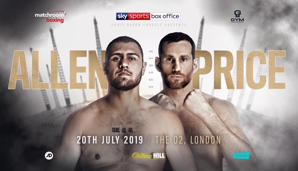 Dave Allen - Dave Allen will face David Price in a huge domestic Heavyweight showdown on the undercard of Dillian Whyte's clash with unbeaten rival Oscar Rivas at The O2 in London on July 20, live on Sky Sports Box Office.