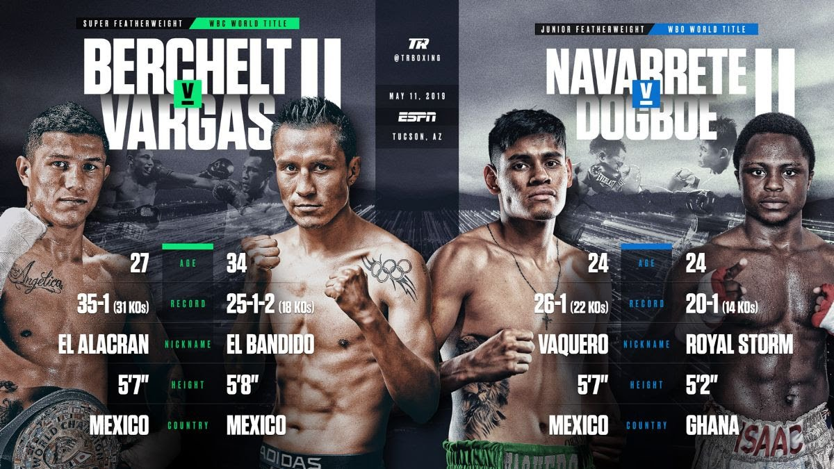 "Miguel ""El Alacran"" Berchelt and Francisco ""El Bandido"" Vargas waged pugilistic war once before. The Mexican warriors, two-plus years removed from their breathtaking battle, are set to do it again."