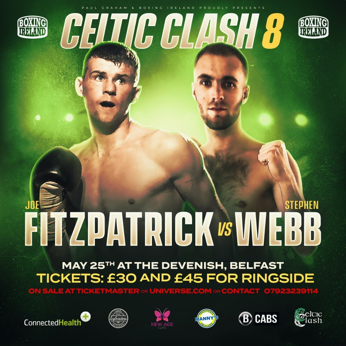 - The hugely popular Celtic Clash series will return to Belfast next month.