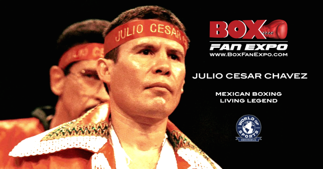 Julio Cesar Chavez -  Boxing's Mexican living legend Julio Cesar Chavez has confirmed that he will appear at the fifth annual Box Fan Expo on Saturday May 4, 2019 at the Las Vegas Convention Center. Chavez will hold a meet and greet with his fans at the Box Fan Expo at the World of Sports Memorabilia booth. The Expo is open from 10 a.m. to 5 p.m., during Cinco De Mayo weekend. The Boxing Expo will also coincide with the highly anticipated fight between Canelo Alvarez vs Danny Jacobs, that will take place later that evening at the T-Mobile Arena.