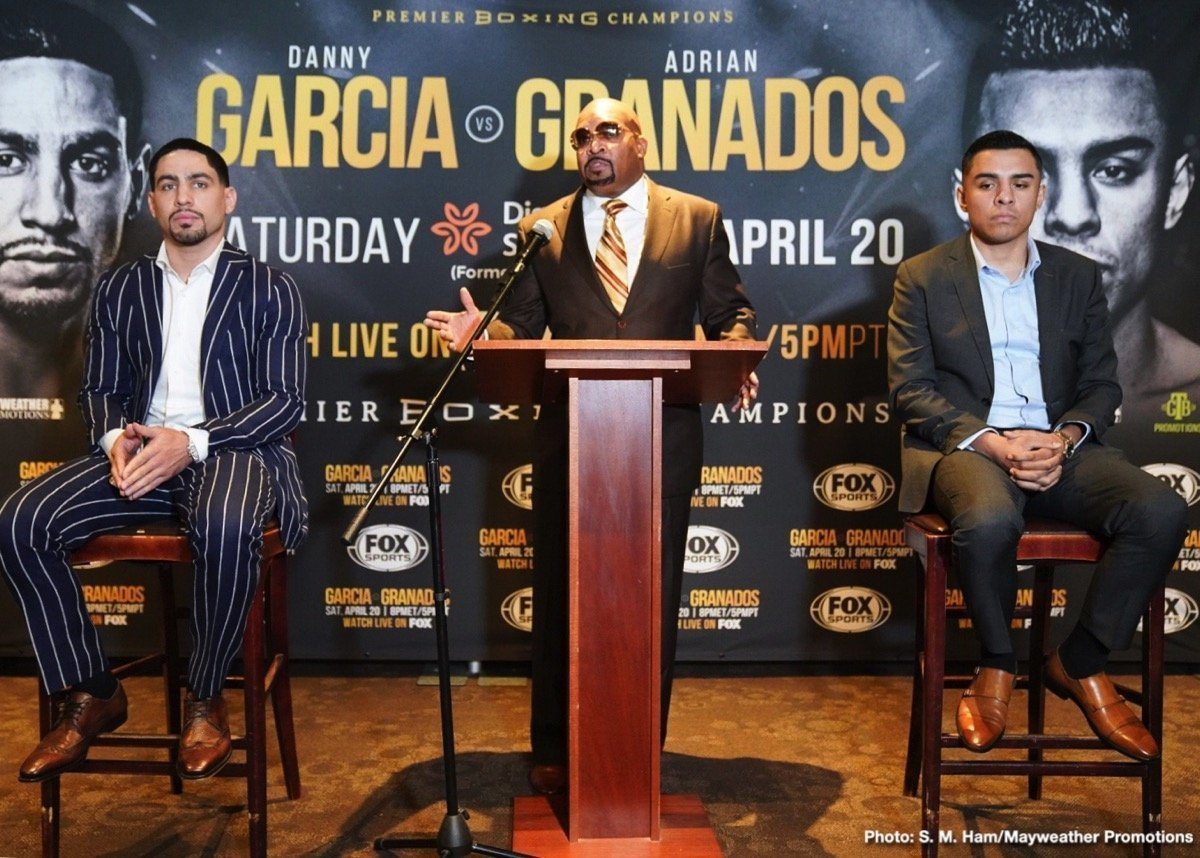 Adrian Granados - Danny Garcia      - How you guys doing? Thanks for having me on. I can't wait. It's been a long camp. It's been a long hard camp. I put in a lot of hard work. Now it's time to go in there this Saturday and handle business and give my fans another great entertaining fight.