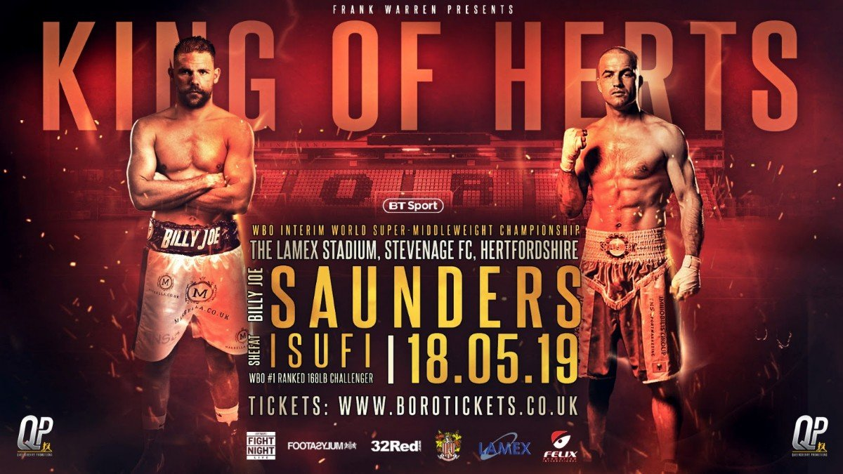 Billy Joe Saunders, Shefat Isufi - BILLY JOE SAUNDERS has challenged WBO super-middleweight champion Gilberto Ramirez to face him or ditch his world title.
