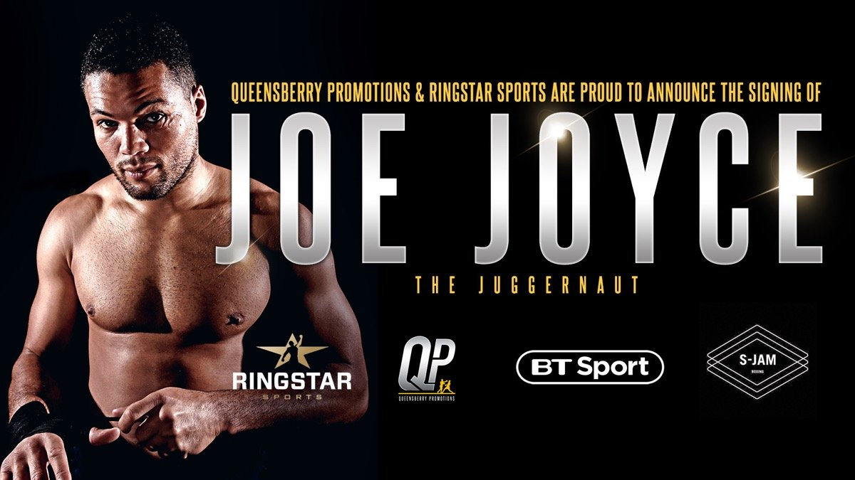 Joe Joyce - HALL OF FAME promoter Frank Warren is delighted to welcome unbeaten heavyweight and Olympic Silver medallist Joe Joyce to the Queensberry Promotions stable in a co-promotional agreement with Ringstar Sports.