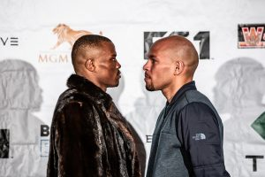 "Caleb Truax - Former world champions Peter ""Kid Chocolate"" Quillin and Caleb ""Golden"" Truax went face-to-face Thursday at the final press conference before they meet in an IBF Super Middleweight World Title Eliminator that headlines Premier Boxing Champions on FS1 and FOX Deportes this Saturday from the Armory in Minneapolis."