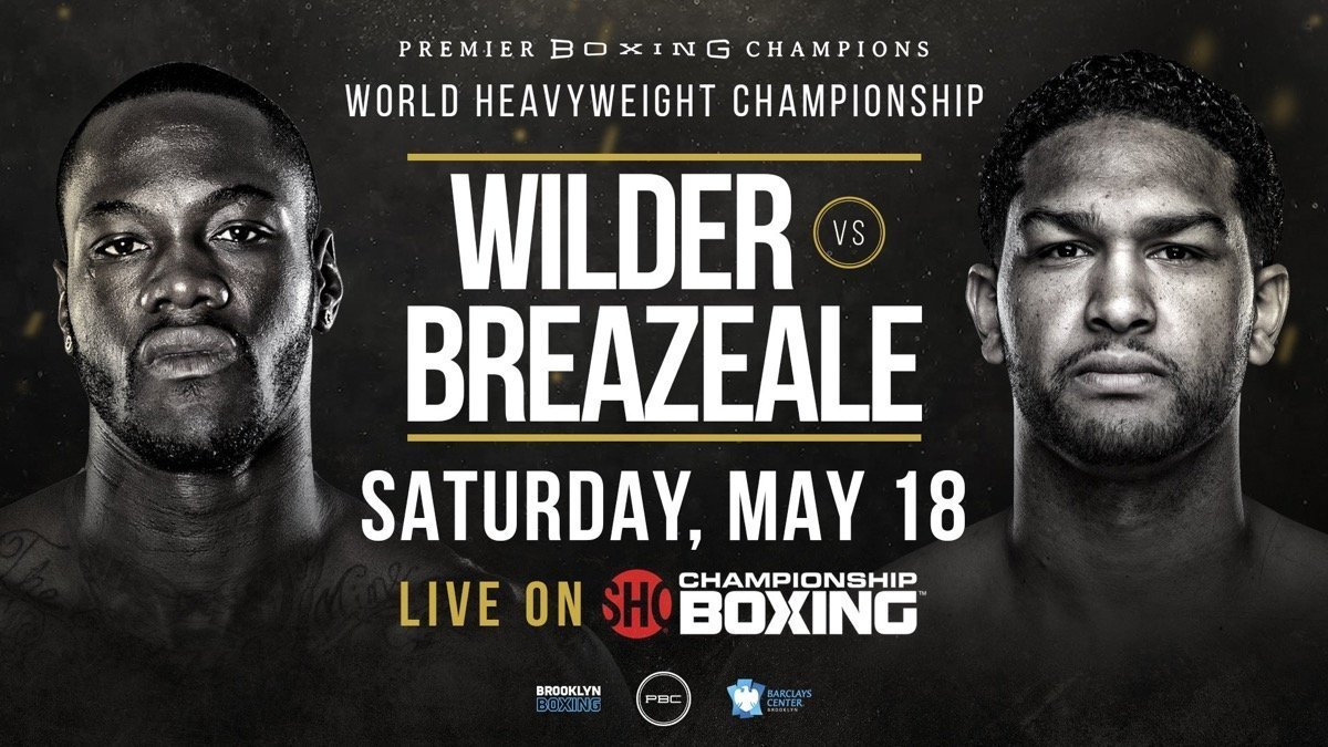 Deontay Wilder, Dominic Breazeale - SHOWTIME Sports will present live streaming coverage of fight week events as WBC Heavyweight Champion Deontay Wilder defends his title for the ninth time against mandatory challenger Dominic Breazeale this Saturday live on SHOWTIME from Barclays Center in Brooklyn, N.Y.