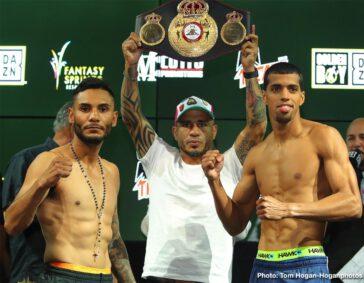 Alberto Machado, Andrew Cancio - Weigh in results from Fantasy Springs Resort Casino