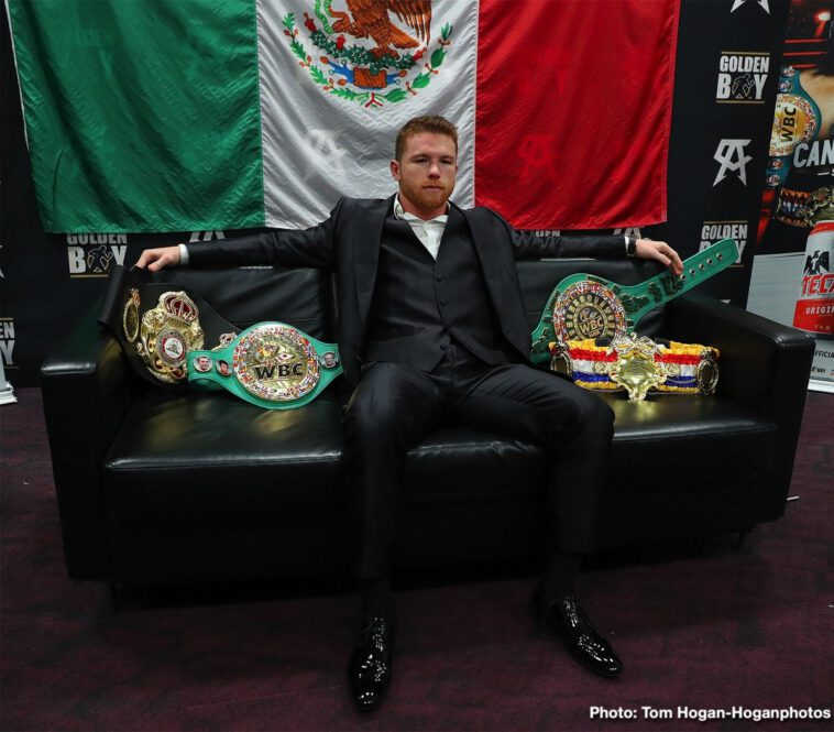 """Daniel Jacobs, Saul """"Canelo"""" Alvarez - Well, there was no controversy, and that's a good thing for a sport that has seen far too much controversy over the past few weeks or so. Fight fans, a good number of them at last, were braced for a controversial, 'he can't lose a decision in Las Vegas' points win being handed to middleweight champ Canelo Alvarez at the conclusion of last night's unification clash with Daniel Jacobs."""