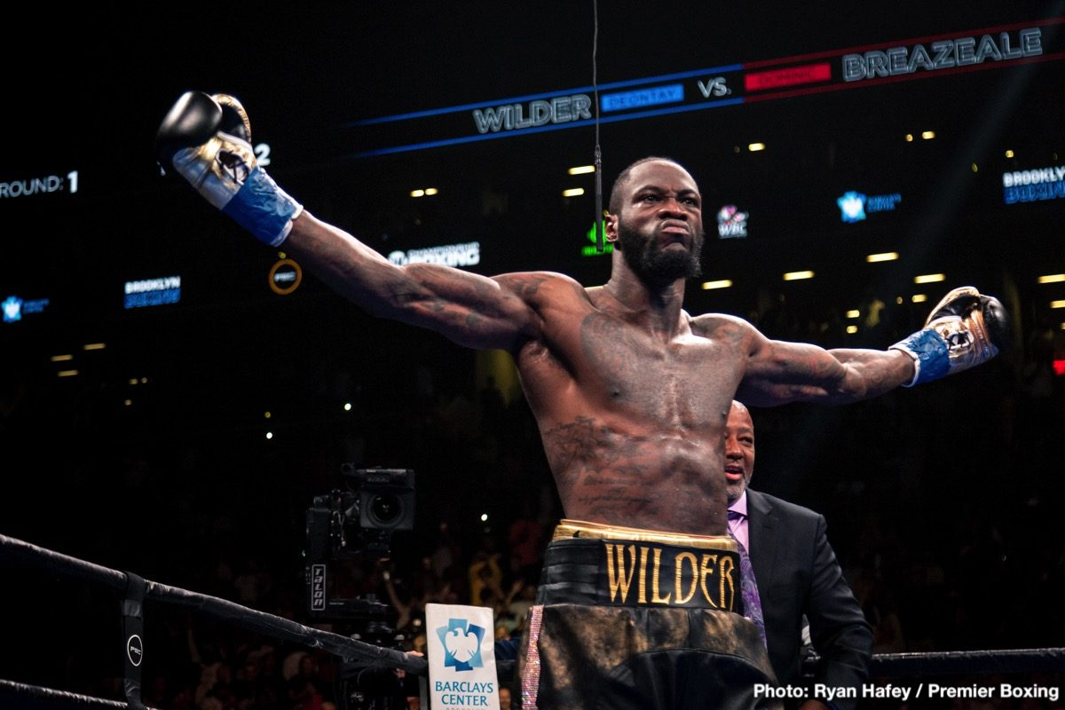 Andy Ruiz Deontay Wilder Tyson Fury Boxing News Top Stories Boxing