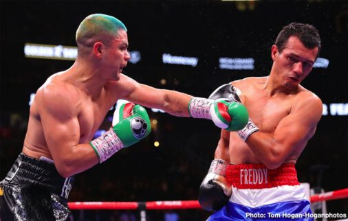 John Ryder, Joseph Diaz Jr, Lamont Roach Jr., Vergil Ortiz Jr. - Vergil Ortiz Jr. (13-0, 13 KOs) of Dallas, Texas overpowered  Mauricio Herrera (24-9, 7 KOs) of Riverside, Calif. to win by knockout in the third round of a welterweight fight originally scheduled for 10 rounds. The fight was brutally ended by several hard shots at :29 seconds of the aforementioned round.