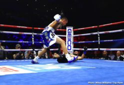 "Artur Beterbiev, Jerwin Ancajas, Radivoje Kalajdzic - The knockout streak continues. Artur Beterbiev, — boxing's only world champion with a 100 percent KO ratio — knocked out the hard-hitting Radivoje ""Hot Rod"" Kalajdzic in the fifth round in front of 10,105 fans at Stockton Arena."