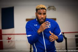 """Ray Flores: The FOX and FOX Deportes broadcast starts 8:00 p.m. ET/5:00 p.m. PT. Talk about an incredible main event, with IBF and WBA 154-pound World Champion """"Swift"""" Jarrett Hurd defending his championship and making his homecoming against hungry top contender, Julian """"J-Rock Williams of Philadelphia, Pennsylvania."""